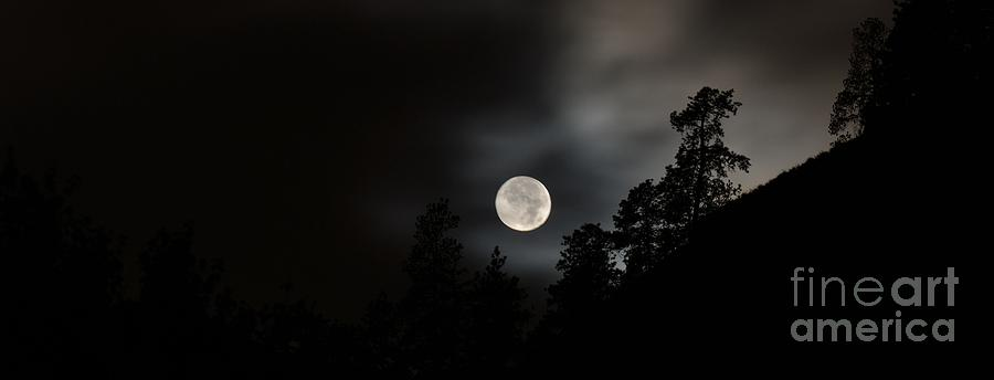 Night Photography Photograph - October Full Moon II by Phil Dionne