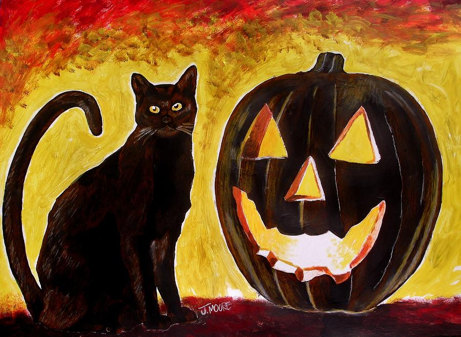 Halloween Painting - October by Jeremy Moore