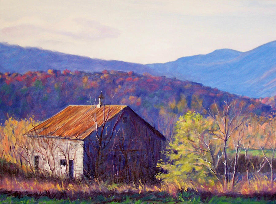 Autumn Landscape Painting - October Morning by Bonnie Mason
