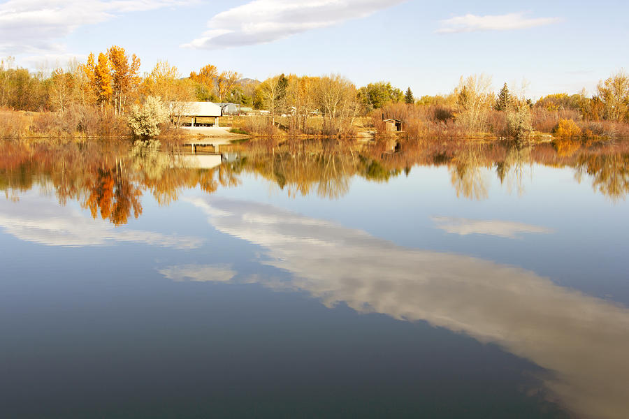 Fall Photograph - October Reflections by Dana Moyer