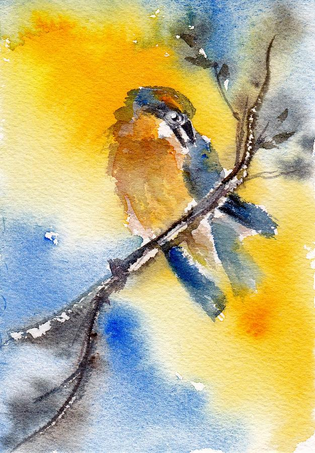 Birds Painting - October Second by Anne Duke