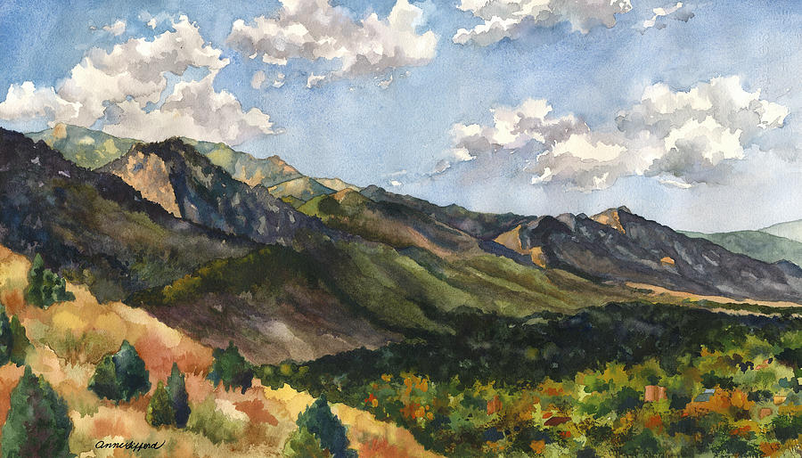 October Shadows Painting by Anne Gifford