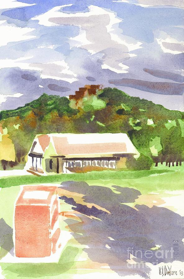 Shadows Painting - October Shadows At Fort Davidson by Kip DeVore