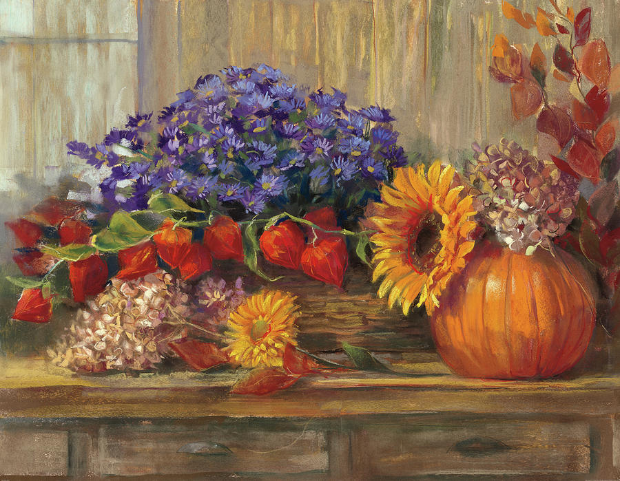 Autumn Painting - October Still Life by Carol Rowan