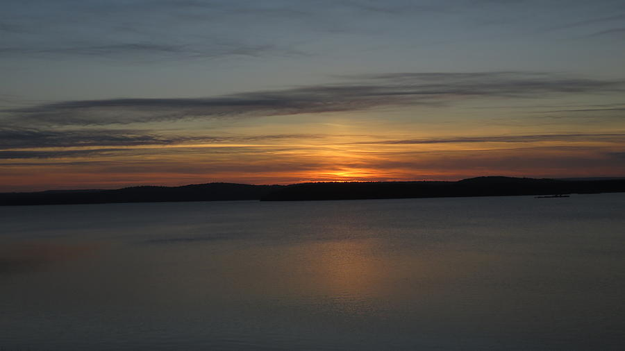 Sunset Photograph - October Sunset by Ronald Raymond
