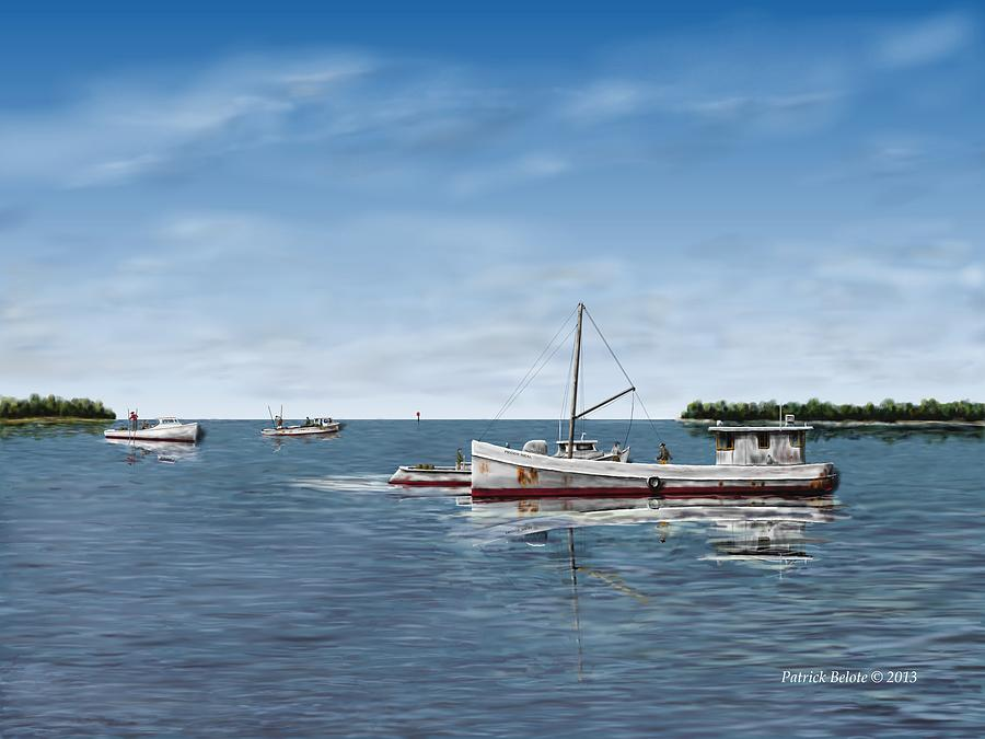 Seascape Digital Art - Octobers Catch by Patrick Belote