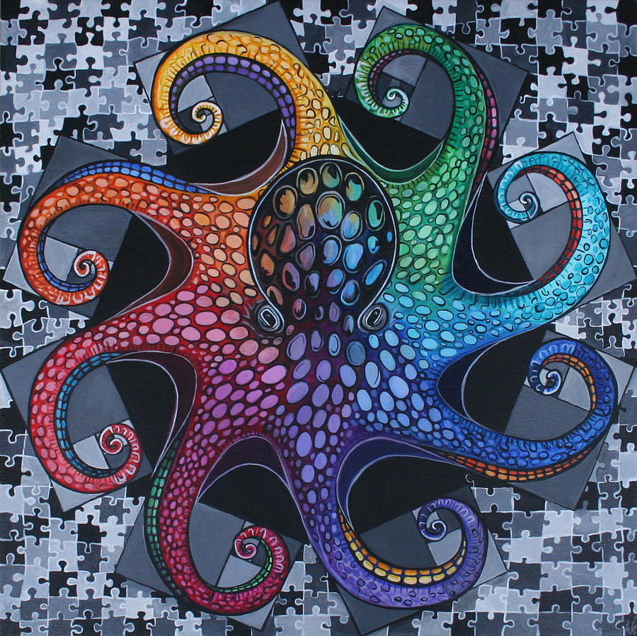 Octopus Painting - Octonacci by Kate Fortin
