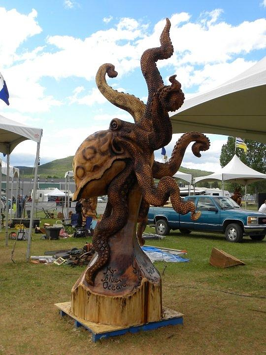 Octopus Sculpture - Octopus by Chris Foltz