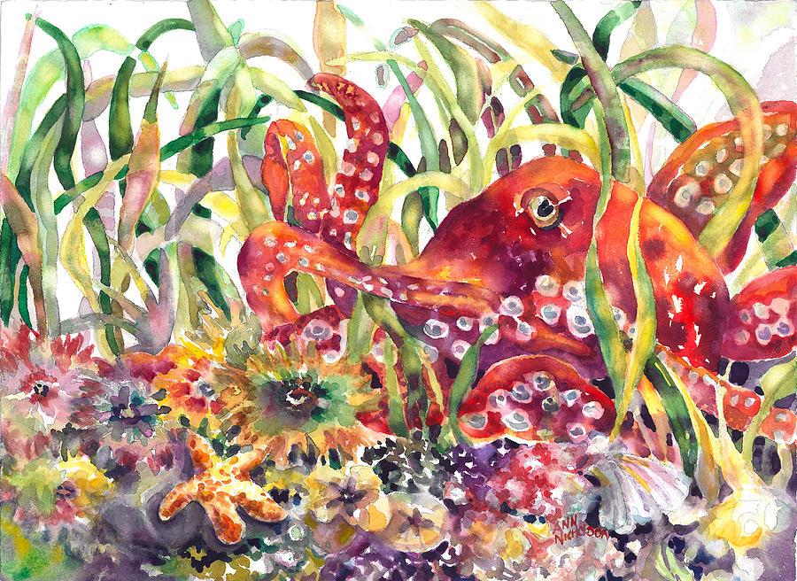 Octopus Painting - Octopus Garden by Ann  Nicholson