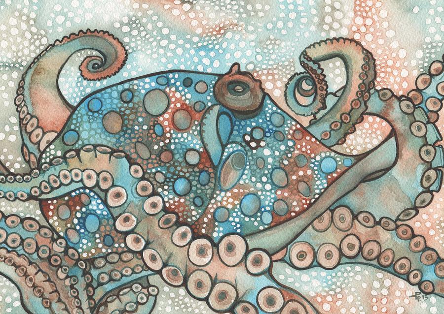 Octopus Painting - Octopus by Tamara Phillips