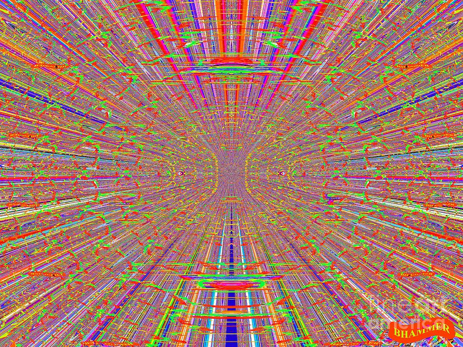 Colorful Digital Art - Ocular Migraine by Bobby Hammerstone