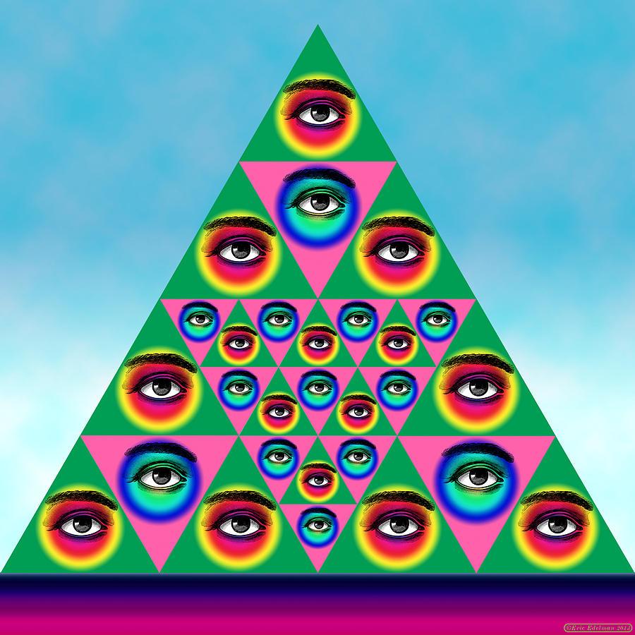 Digital Collage Digital Art - Oculi Omnium by Eric Edelman