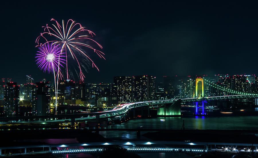 Odaiba Fireworks Photograph by ©alan Nee
