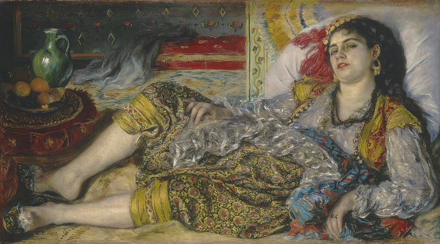 Odalisque Painting by Pierre Auguste Renoir