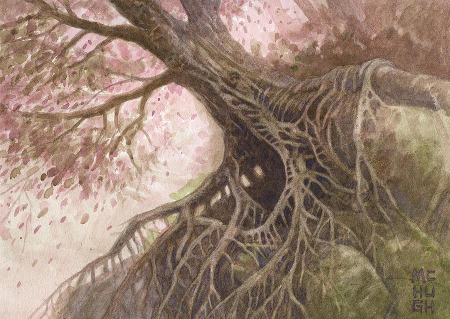 Tree Painting - Odd Nut by Jeremy McHugh