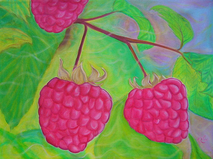 Fruit Painting - Ode To A Raspberry by Rachel Cruse