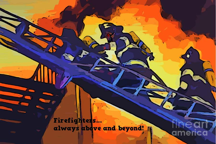 Firefighter Prints Digital Art - Ode To Our Heros by John Malone