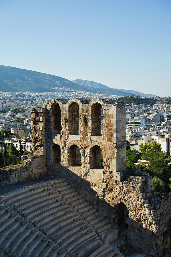 Odeon Of Herodes Atticus With View Of Photograph by Daniel Alexander / Design Pics
