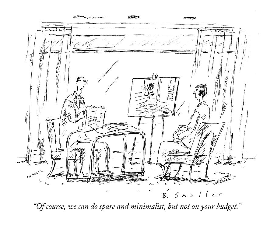 Budget Drawing - Of Course, We Can Do Spare And Minimalist, But by Barbara Smaller
