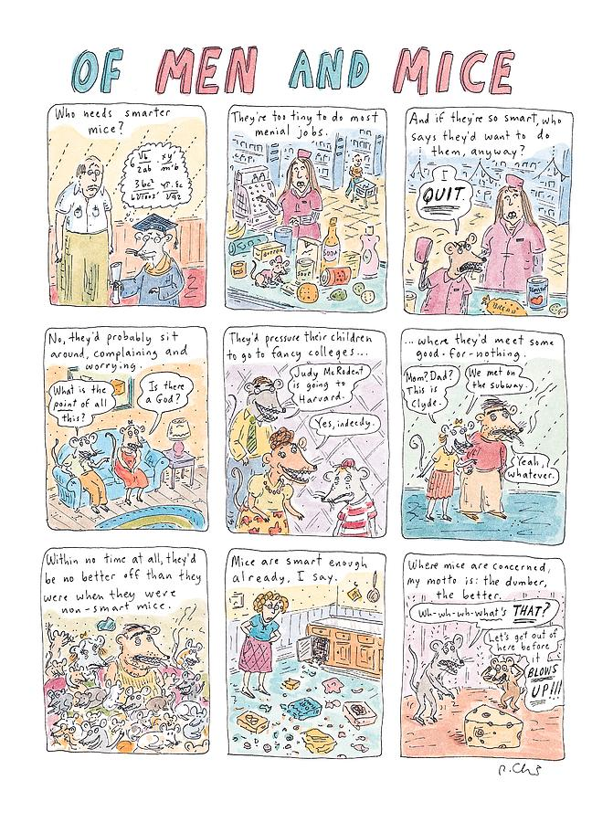 Of Men And Mice Drawing by Roz Chast