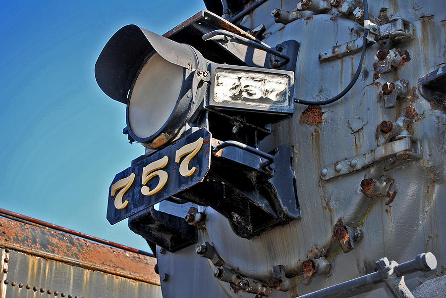 Rail Road Photograph - Of Rust And Power by Skip Willits