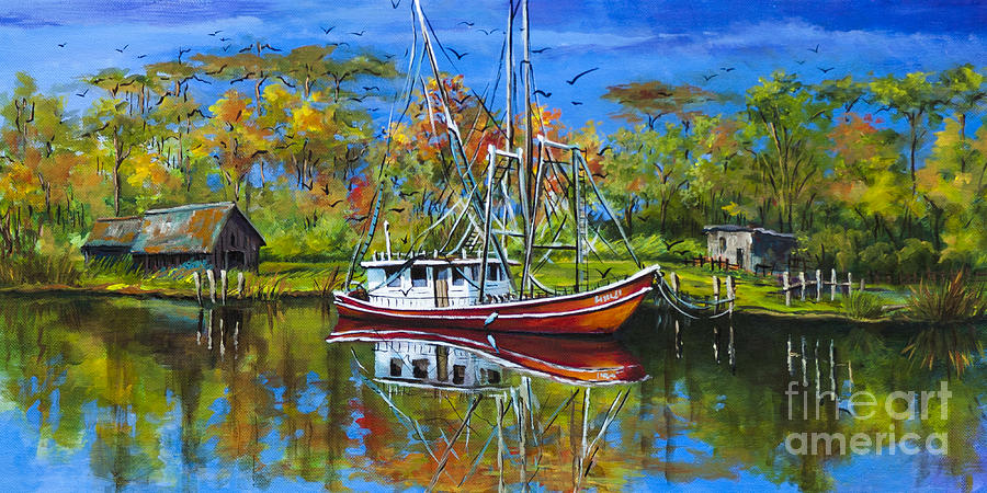 Bayou Painting - Off Season by Dianne Parks