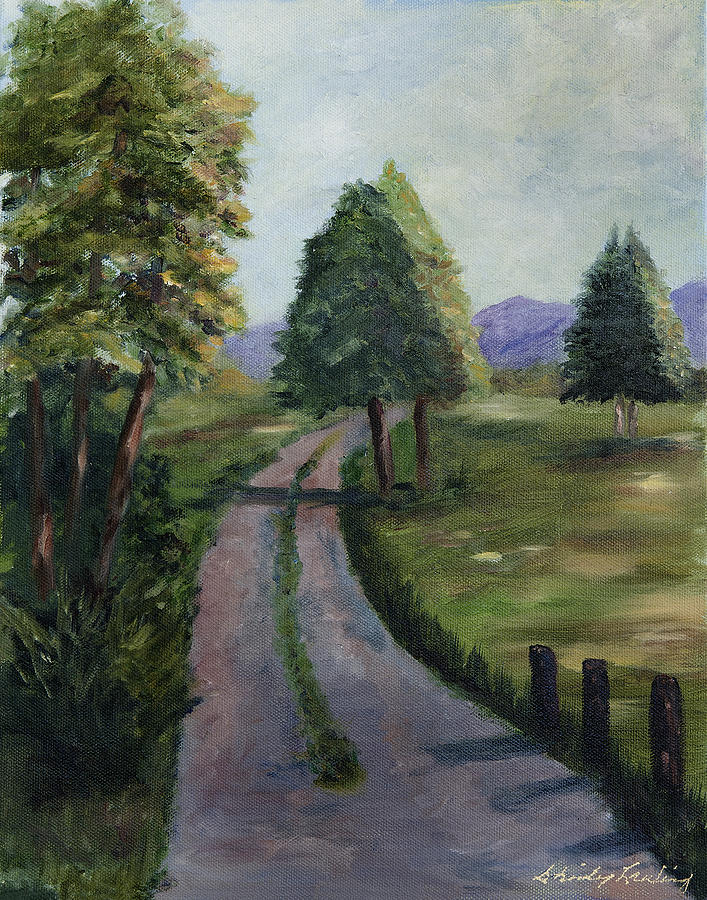 Country Road Painting - Off The Beaten Path by Shirley Lawing