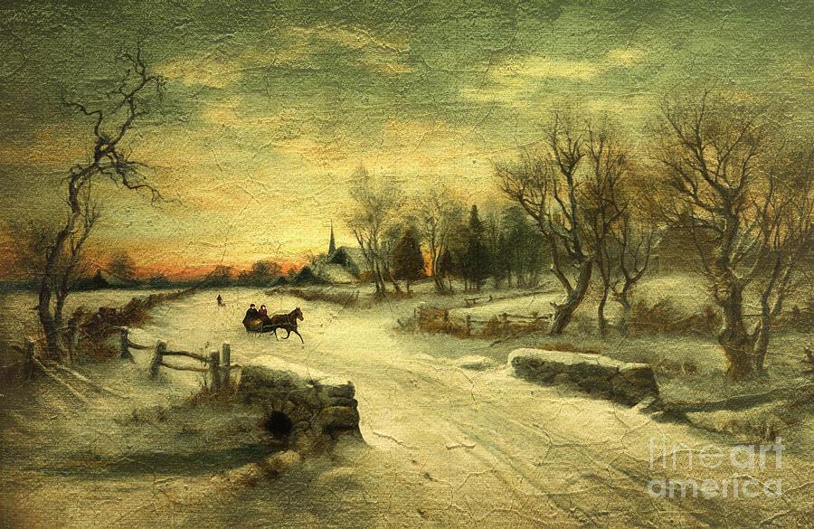 Off To Grandmas - Christmas Morning Digital Art