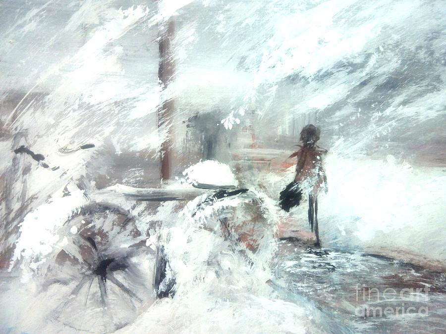 Toronto Painting - Off To Work by Trilby Cole