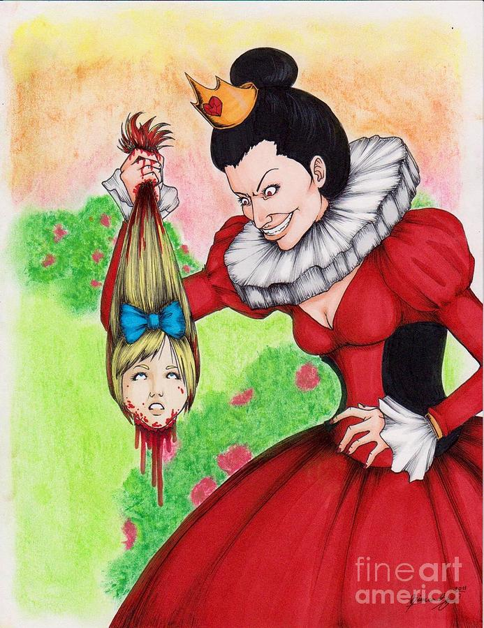 Alice Drawing - Off With Her Head by Bibo