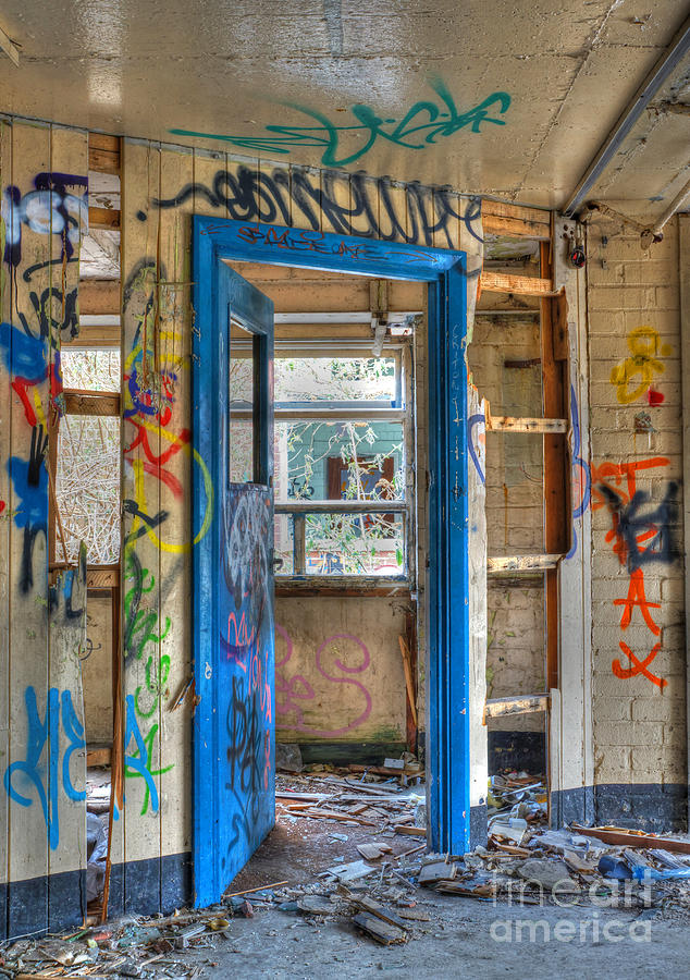 Urban Photograph - Office Closed by David Birchall
