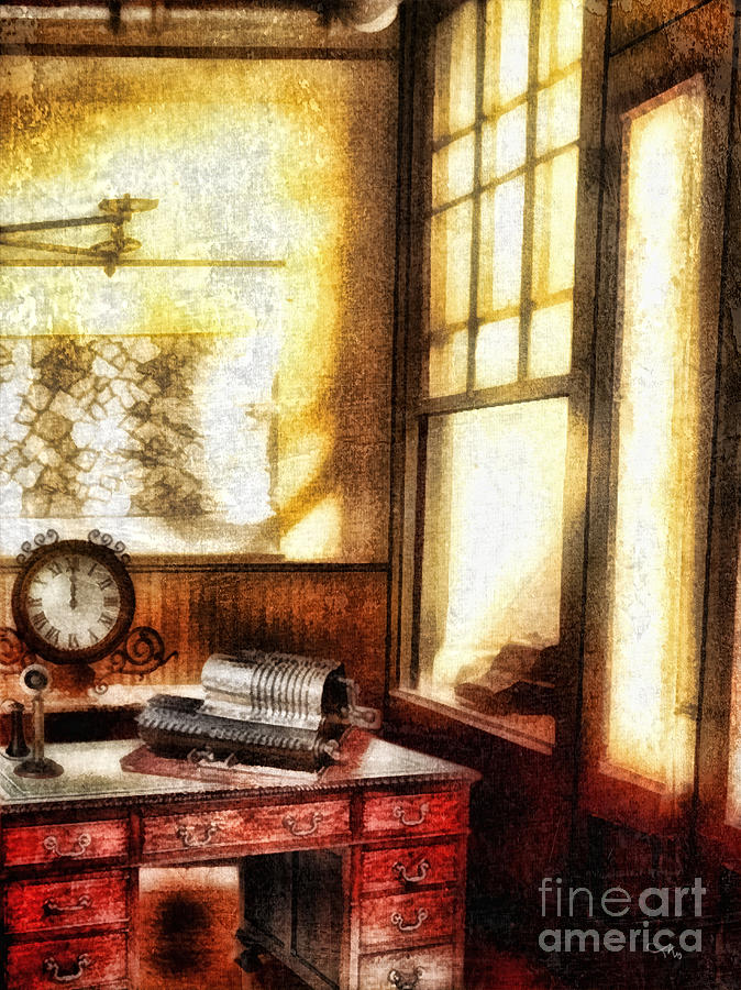 Office Mixed Media - Office by Mo T
