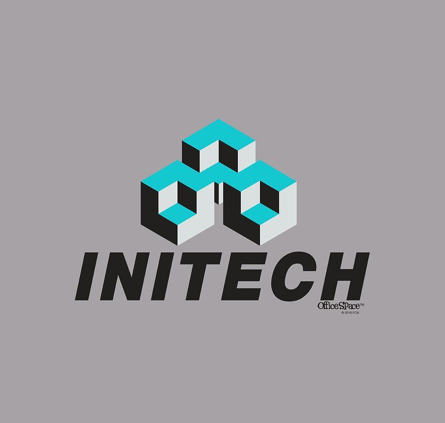 Office Space - Initech Logo Digital Art by Brand A