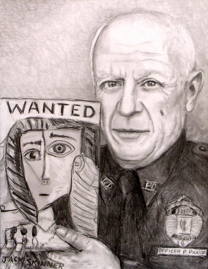 Officer Picasso Police Sketch Artist Drawing By Jack Skinner