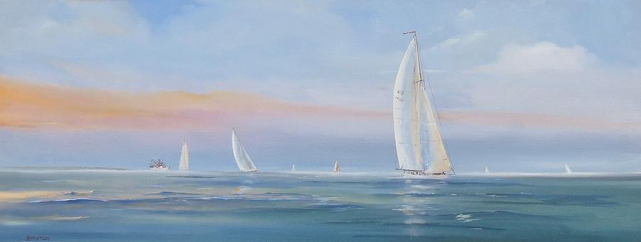Sail Painting - Offshore Sailing by Jim Christley