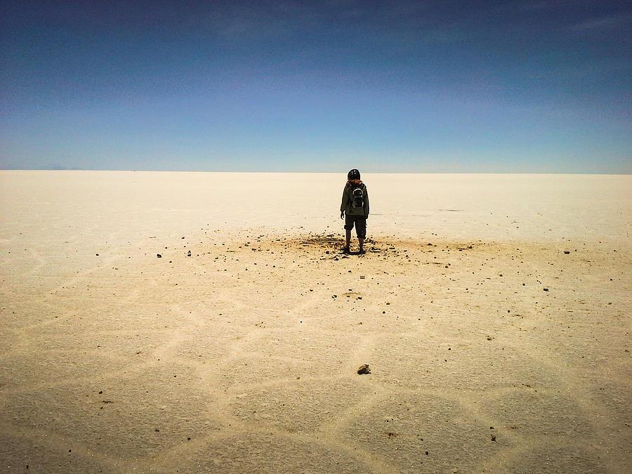 Salar De Uyuni Photograph - Offworld Imperfection by Tyler Lucas