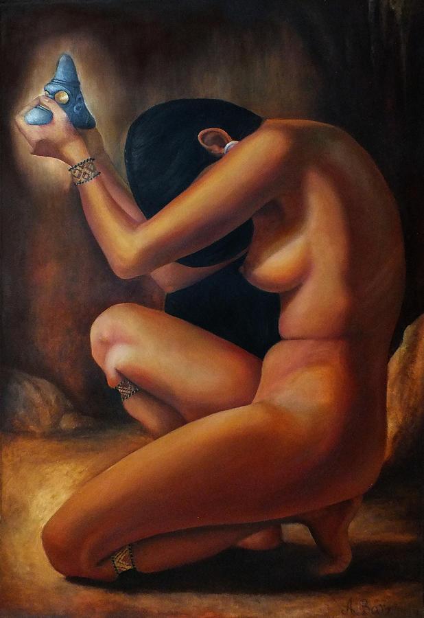 Taino Painting - Ofrenda by Alejandra Baiz