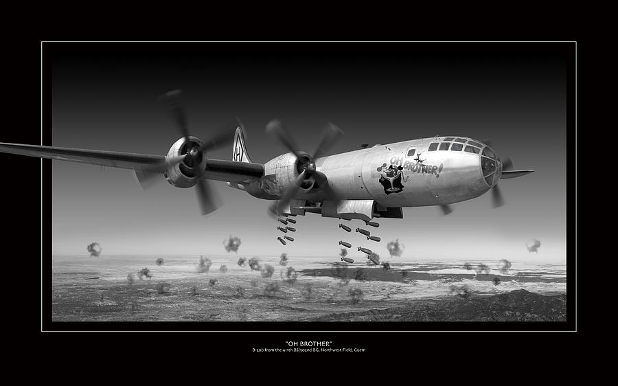World War Ii Planes Photograph - Oh Brother by Larry McManus