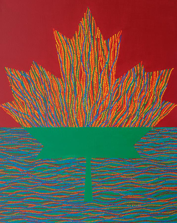 Modern Painting - Oh Canada 3 by Kyung Hee Hogg