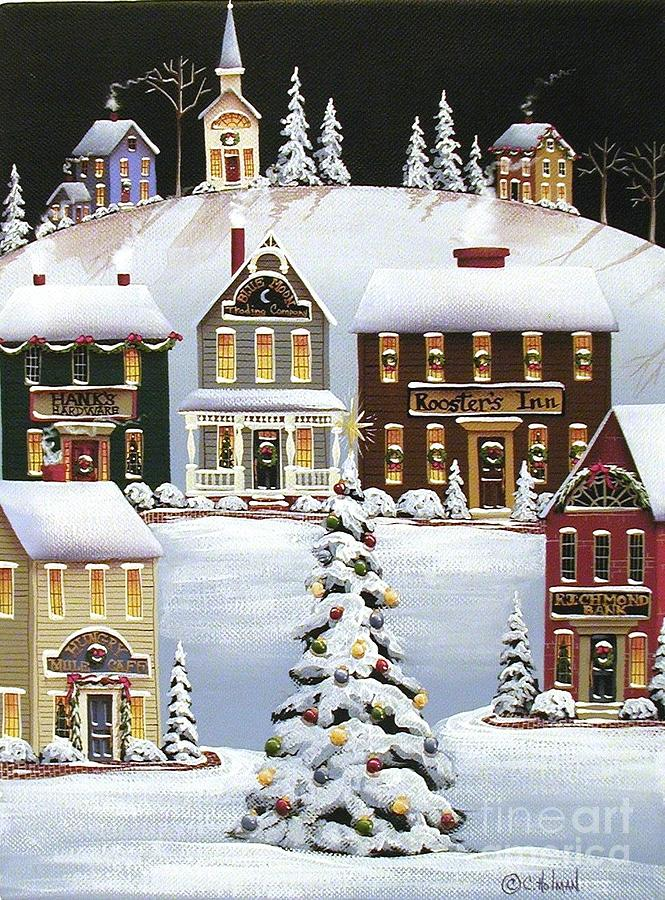 Print Painting - Oh Christmas Tree by Catherine Holman