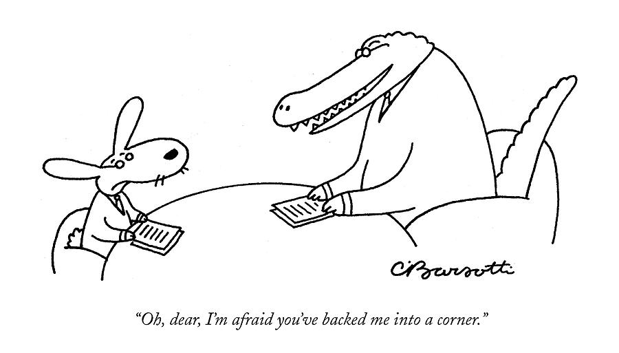Oh, Dear, Im Afraid Youve Backed Drawing by Charles Barsotti
