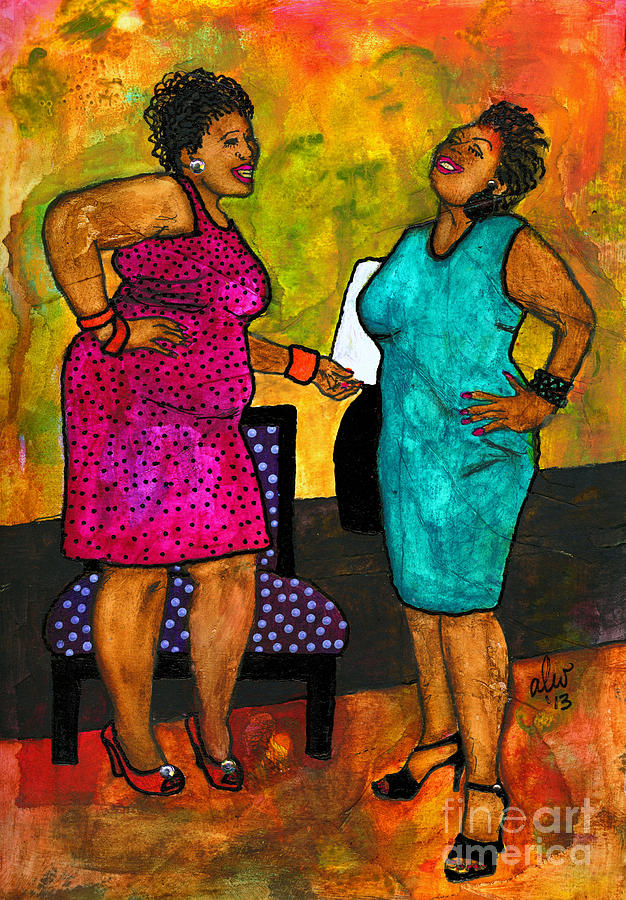 Journals Painting - Oh Girl Dont Make Me Laugh by Angela L Walker