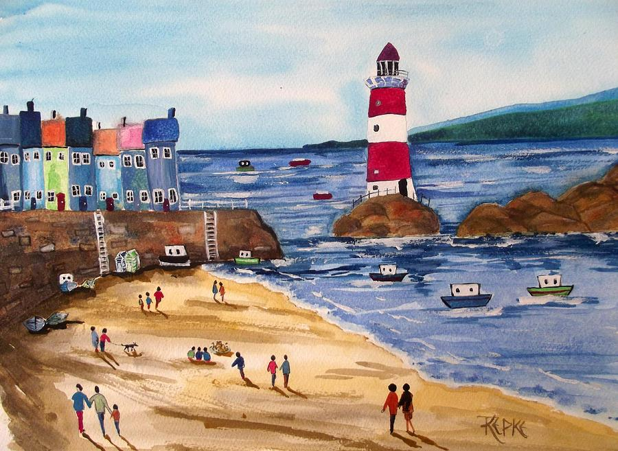 oh i do like to be beside the seaside painting by trudy kepke clip art boat sinking clipart boats free
