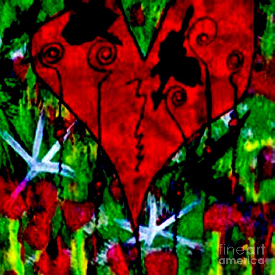 Oh My Pink Heart Painting - Oh My Pink Heart by Donna Daugherty