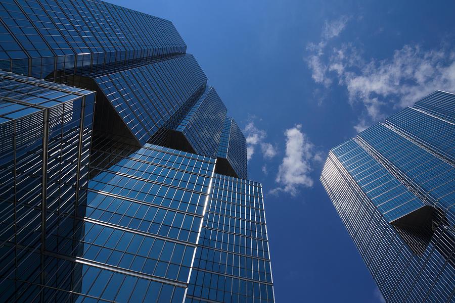 Oh So Blue Photograph - Oh So Blue - Downtown Toronto Skyscrapers by Georgia Mizuleva