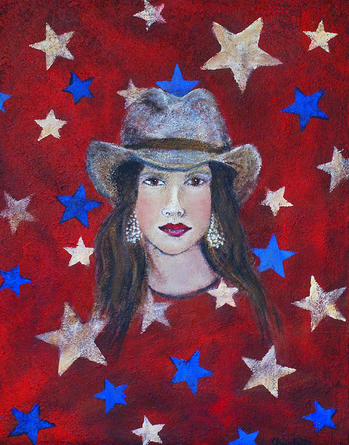 Stars Painting - Oh Suzannah by The Art With A Heart By Charlotte Phillips