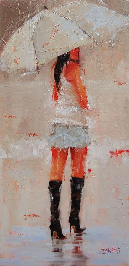 Beautiful Girl Painting - Oh Those Boots by Laura Lee Zanghetti