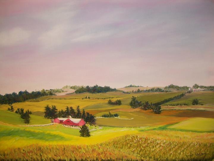 Amish Pastel - Ohio Amish Farm by Dan Haley
