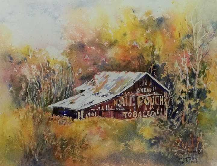Mail Pouch Barn Painting - Ohio Barn 3 by Mary Haley-Rocks