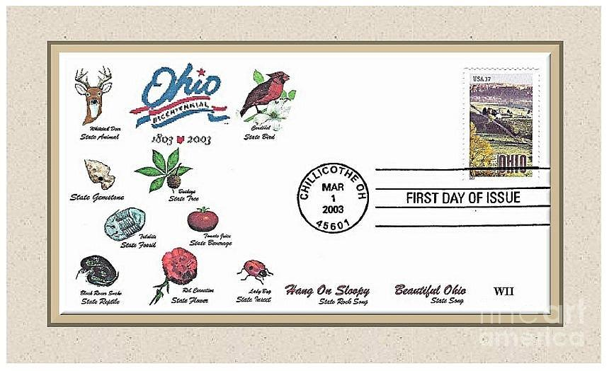 Ohio Photograph - Ohio  Bicentennial Cover #1 by Charles Robinson